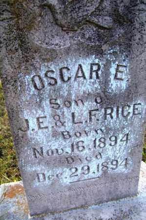 RICE, OSCAR E. - Franklin County, Arkansas | OSCAR E. RICE - Arkansas Gravestone Photos