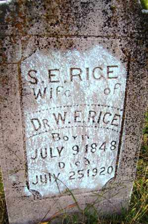 RICE, SARAH E. - Franklin County, Arkansas | SARAH E. RICE - Arkansas Gravestone Photos
