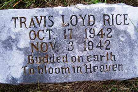 RICE, TRAVIS LOYD - Franklin County, Arkansas | TRAVIS LOYD RICE - Arkansas Gravestone Photos