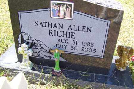 RICHIE, NATHAN ALLEN - Franklin County, Arkansas | NATHAN ALLEN RICHIE - Arkansas Gravestone Photos