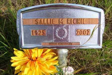 RICHIE, SALLIE M. - Franklin County, Arkansas | SALLIE M. RICHIE - Arkansas Gravestone Photos