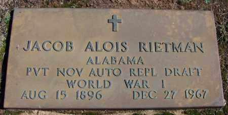 RIETMAN  (VETERAN WWI), JACOB ALOIS - Franklin County, Arkansas | JACOB ALOIS RIETMAN  (VETERAN WWI) - Arkansas Gravestone Photos