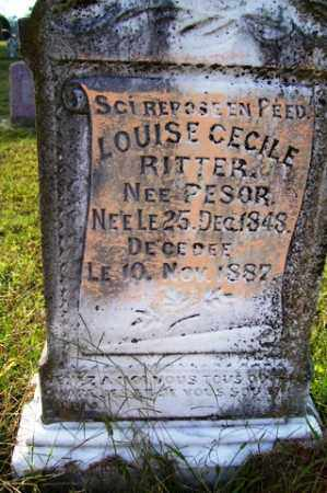 PESOR RITTER, LOUISE CECILE - Franklin County, Arkansas | LOUISE CECILE PESOR RITTER - Arkansas Gravestone Photos