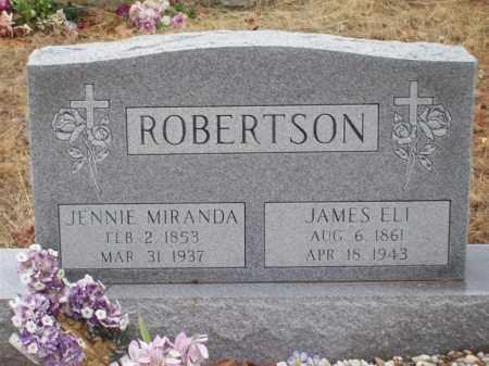 ROBERTSON, JENNIE MIRANDA - Franklin County, Arkansas | JENNIE MIRANDA ROBERTSON - Arkansas Gravestone Photos