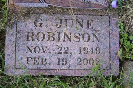 ROBINSON, G. JUNE - Franklin County, Arkansas | G. JUNE ROBINSON - Arkansas Gravestone Photos