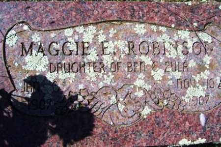 ROBINSON, MAGGIE E. - Franklin County, Arkansas | MAGGIE E. ROBINSON - Arkansas Gravestone Photos