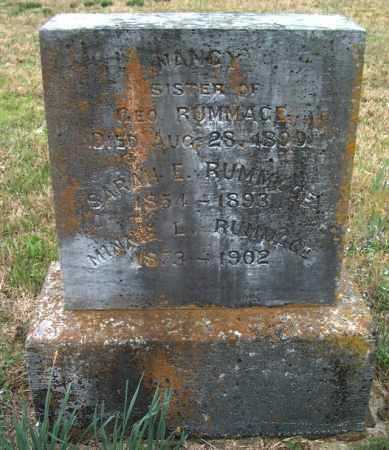 RUMMAGE, SARAH E. - Franklin County, Arkansas | SARAH E. RUMMAGE - Arkansas Gravestone Photos