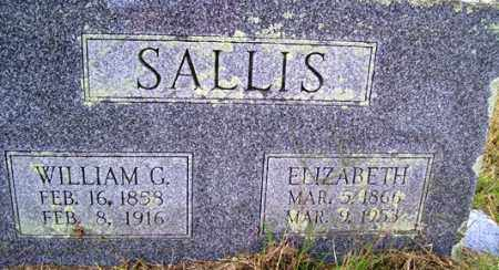 SALLIS, WILLIAM G. - Franklin County, Arkansas | WILLIAM G. SALLIS - Arkansas Gravestone Photos