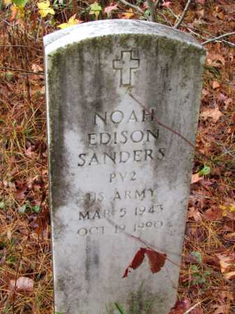 SANDERS (VETERAN), NOAH EDISON - Franklin County, Arkansas | NOAH EDISON SANDERS (VETERAN) - Arkansas Gravestone Photos