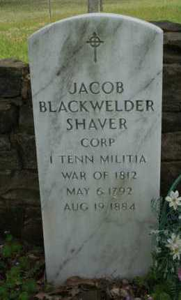 SHAVER  (VETERAN 1812), JACOB BLACKWELDER - Franklin County, Arkansas | JACOB BLACKWELDER SHAVER  (VETERAN 1812) - Arkansas Gravestone Photos