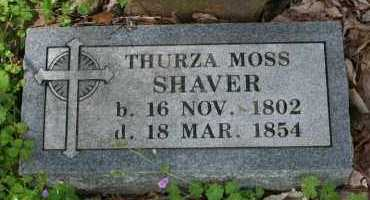 MOSS SHAVER, THURZA - Franklin County, Arkansas | THURZA MOSS SHAVER - Arkansas Gravestone Photos