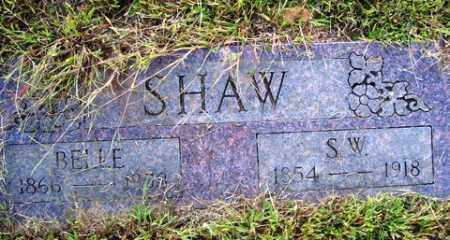 SHAW, SAMUEL W. - Franklin County, Arkansas | SAMUEL W. SHAW - Arkansas Gravestone Photos