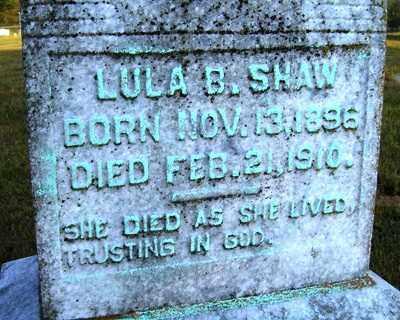 SHAW, LULA B. - Franklin County, Arkansas | LULA B. SHAW - Arkansas Gravestone Photos