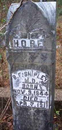 SHIPLEY  (VETERAN CSA), BENJAMIN F - Franklin County, Arkansas | BENJAMIN F SHIPLEY  (VETERAN CSA) - Arkansas Gravestone Photos