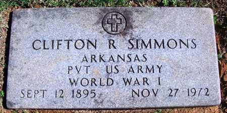 SIMMONS (VETERAN WWI), CLIFTON R - Franklin County, Arkansas | CLIFTON R SIMMONS (VETERAN WWI) - Arkansas Gravestone Photos