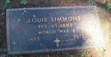 SIMMONS (VETERAN WWI), LOUIS - Franklin County, Arkansas | LOUIS SIMMONS (VETERAN WWI) - Arkansas Gravestone Photos