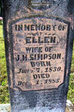 SIMPSON, ELLEN - Franklin County, Arkansas | ELLEN SIMPSON - Arkansas Gravestone Photos