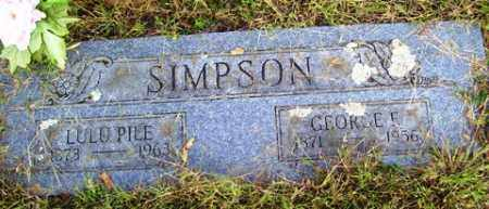 PILE SIMPSON, LULU - Franklin County, Arkansas | LULU PILE SIMPSON - Arkansas Gravestone Photos
