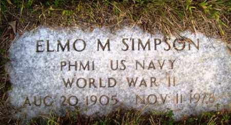 SIMPSON (VETERAN WWII), ELMO M - Franklin County, Arkansas | ELMO M SIMPSON (VETERAN WWII) - Arkansas Gravestone Photos