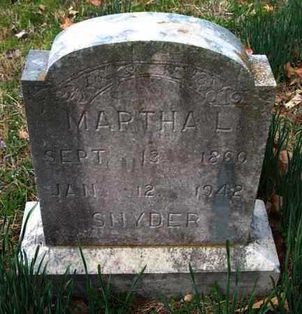 SNYDER, MARTHA L. - Franklin County, Arkansas | MARTHA L. SNYDER - Arkansas Gravestone Photos