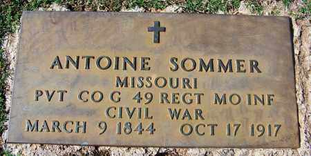 SOMMER (VETERAN UNION), ANTOINE - Franklin County, Arkansas | ANTOINE SOMMER (VETERAN UNION) - Arkansas Gravestone Photos
