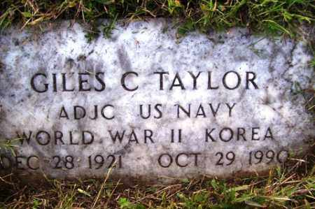 TAYLOR (VETERAN 2 WARS), GILES C - Franklin County, Arkansas | GILES C TAYLOR (VETERAN 2 WARS) - Arkansas Gravestone Photos