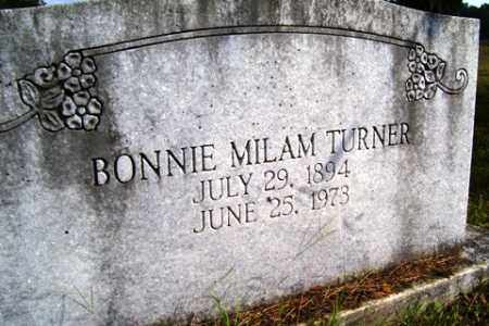 MILAM TURNER, BONNIE - Franklin County, Arkansas | BONNIE MILAM TURNER - Arkansas Gravestone Photos
