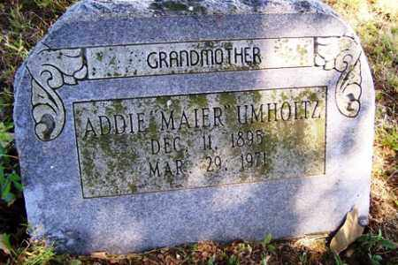 MAIER UMHOLTZ, ADDIE - Franklin County, Arkansas | ADDIE MAIER UMHOLTZ - Arkansas Gravestone Photos