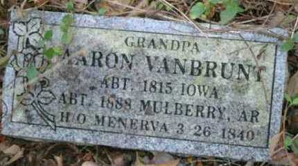 VANBRUNT, AARON - Franklin County, Arkansas | AARON VANBRUNT - Arkansas Gravestone Photos