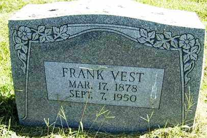 VEST, FRANK - Franklin County, Arkansas | FRANK VEST - Arkansas Gravestone Photos