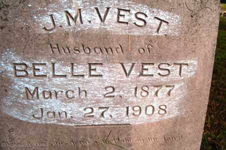 VEST, J  M - Franklin County, Arkansas | J  M VEST - Arkansas Gravestone Photos