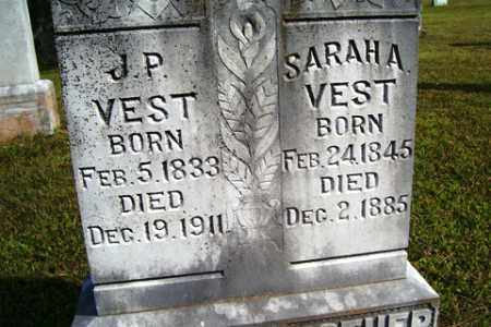 VEST, SARAH A. - Franklin County, Arkansas | SARAH A. VEST - Arkansas Gravestone Photos