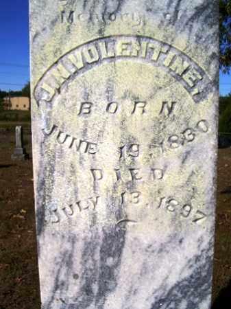 VOLENTINE, J. N. - Franklin County, Arkansas | J. N. VOLENTINE - Arkansas Gravestone Photos