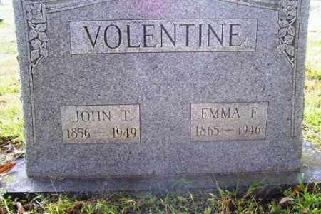 VOLENTINE, JOHN T. - Franklin County, Arkansas | JOHN T. VOLENTINE - Arkansas Gravestone Photos