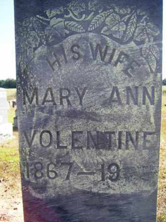 VOLENTINE, MARY ANN - Franklin County, Arkansas | MARY ANN VOLENTINE - Arkansas Gravestone Photos