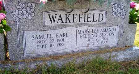 BURTON WAKEFIELD, MARY LEE AMANDA BELDING - Franklin County, Arkansas | MARY LEE AMANDA BELDING BURTON WAKEFIELD - Arkansas Gravestone Photos