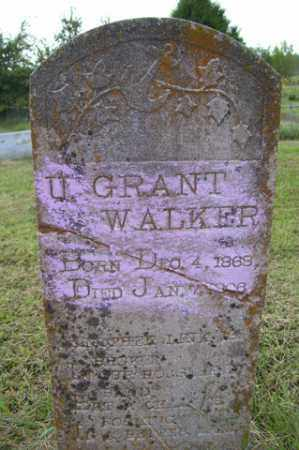 WALKER, U GRANT - Franklin County, Arkansas | U GRANT WALKER - Arkansas Gravestone Photos