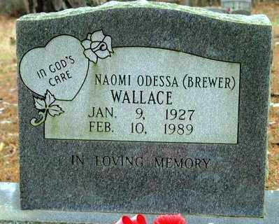 BREWER WALLACE, NAOMI ODESSA - Franklin County, Arkansas | NAOMI ODESSA BREWER WALLACE - Arkansas Gravestone Photos