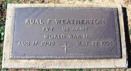 WEATHERTON (VETERAN WWII), RUAL F - Franklin County, Arkansas | RUAL F WEATHERTON (VETERAN WWII) - Arkansas Gravestone Photos