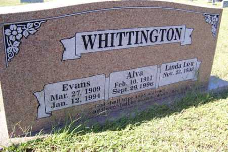 PETTIGREW WHITTINGTON, ALVA - Franklin County, Arkansas | ALVA PETTIGREW WHITTINGTON - Arkansas Gravestone Photos