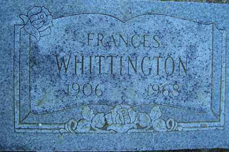 WHITTINGTON, FRANCES - Franklin County, Arkansas | FRANCES WHITTINGTON - Arkansas Gravestone Photos