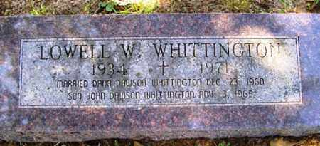 WHITTINGTON, LOWELL W. - Franklin County, Arkansas | LOWELL W. WHITTINGTON - Arkansas Gravestone Photos