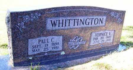 WHITTINGTON, VERNICE V. - Franklin County, Arkansas | VERNICE V. WHITTINGTON - Arkansas Gravestone Photos
