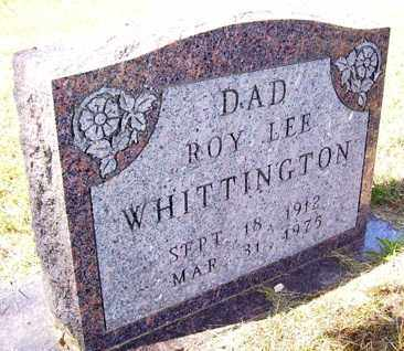 WHITTINGTON, ROY LEE - Franklin County, Arkansas | ROY LEE WHITTINGTON - Arkansas Gravestone Photos