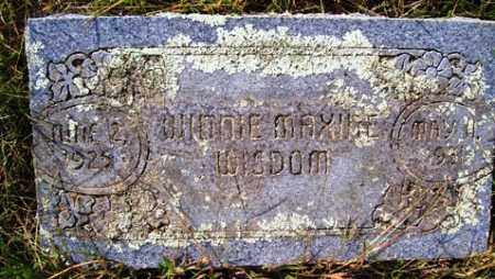 WISDOM, WINNIE MAXINE - Franklin County, Arkansas | WINNIE MAXINE WISDOM - Arkansas Gravestone Photos