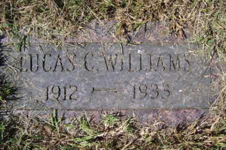 WILLIAMS, LUCAS C. - Franklin County, Arkansas | LUCAS C. WILLIAMS - Arkansas Gravestone Photos