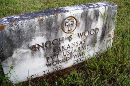 WOOD (VETERAN WWI), ENOCH S - Franklin County, Arkansas | ENOCH S WOOD (VETERAN WWI) - Arkansas Gravestone Photos