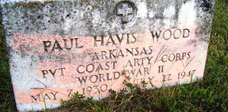 WOOD (VETERAN WWII), PAUL HAVIS - Franklin County, Arkansas | PAUL HAVIS WOOD (VETERAN WWII) - Arkansas Gravestone Photos