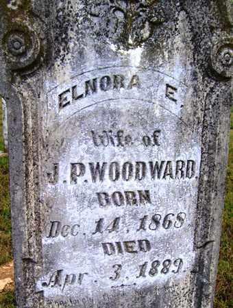 WOODWARD, ELNORA E - Franklin County, Arkansas | ELNORA E WOODWARD - Arkansas Gravestone Photos