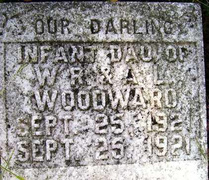WOODWARD, INFANT DAUGHTER - Franklin County, Arkansas | INFANT DAUGHTER WOODWARD - Arkansas Gravestone Photos